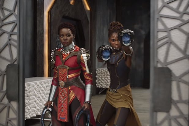 black panther trailer lupito nyong'o letitia wright