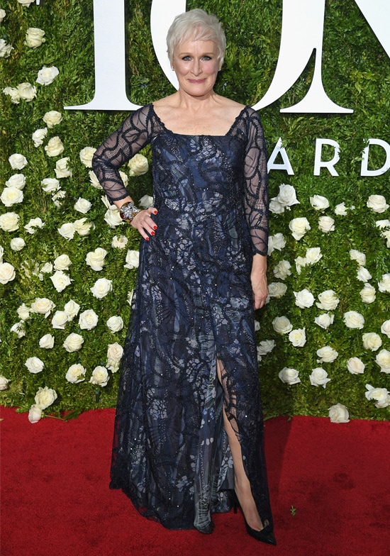 glenn close tony awards red carpet