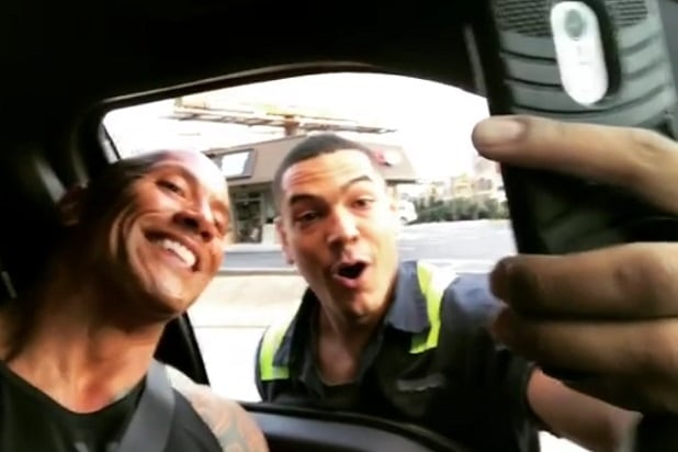 the rock national selfie day
