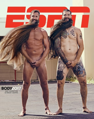 Joe Thornton and Brent Burns Body Issue Cover