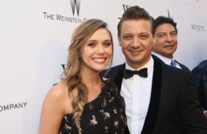 "LOS ANGELES, CA - JULY 26: Actors Elizabeth Olsen and Jeremy Renner attend the ""Wind River"" Los Angeles Premiere at Ace Hotel Los Angeles on July 26, 2017 in Los Angeles, California. (Photo by Tommaso Boddi/Getty Images for TWC)"