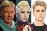 Harrison Ford Lady Gaga Justin Bieber