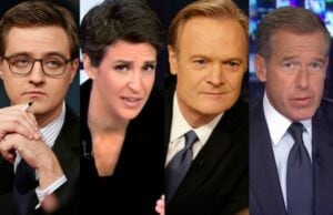 MSNBC Chris Hayes Rachel Maddow Lawrence O'Donnell Brian Williams