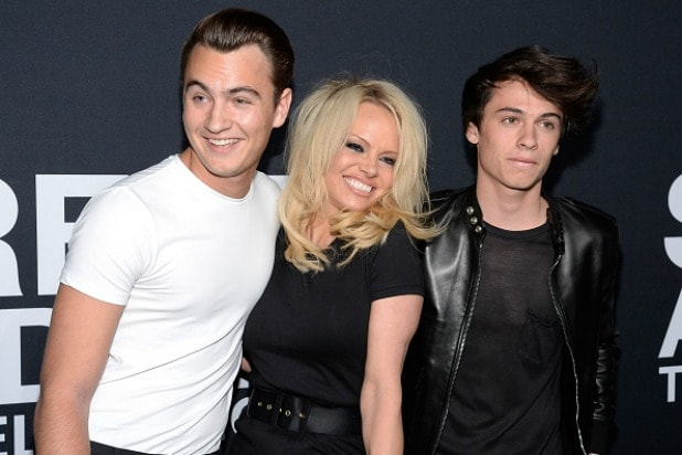 Pamela Anderson and Sons