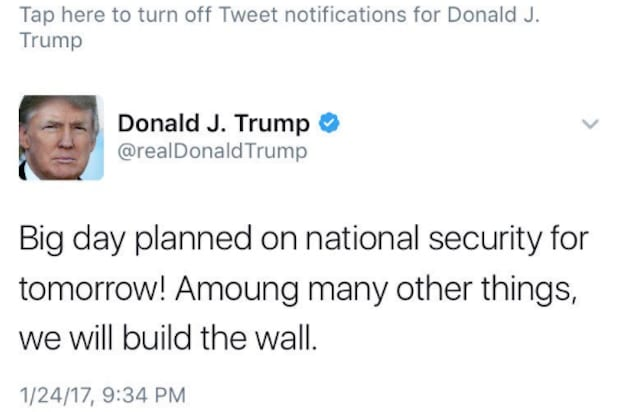 "trump misspells the word ""among"""