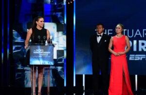 Stephanie McMahon and Ronda Rousey at ESPN Humanitarian Awards