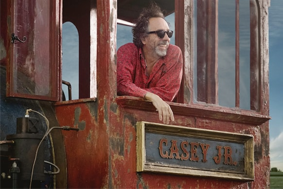 Tim Burton Rides The Circus Train In First Behind-The-Scenes Image From 'Dumbo'