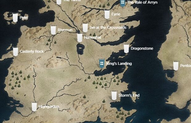 game of thrones casterly rock map