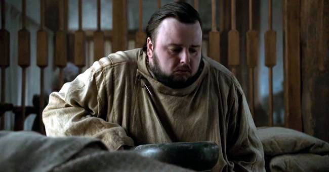 game of thrones sam tarly soup and poop