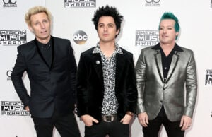 Musicians Mike Dirnt, Billie Joe Armstrong and Tr? Cool of Green Day