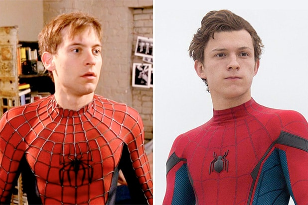 spider-man tobey maguire tom holland