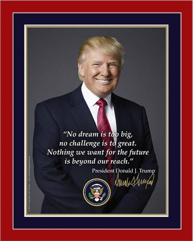 Trump inauguration portrait + typo