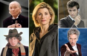 doctor who tom baker jodie whittaker david tennat peter capaldi william hartnell