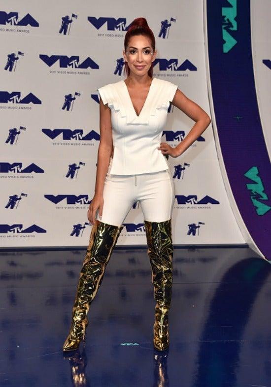 Farrah Abraham at the 2017 MTV Video Music Awards.