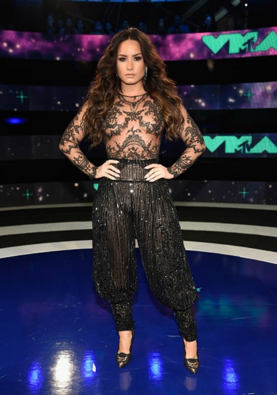 Demi Lovato at the 2017 MTV Video Music Awards