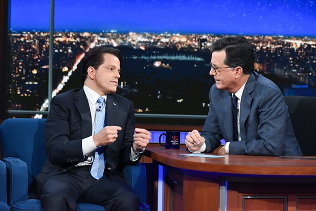 The Late Show with Stephen Colbert Anthony Scaramucci