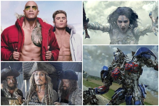 Bombs Baywatch Pirates box office Mummy Transformers