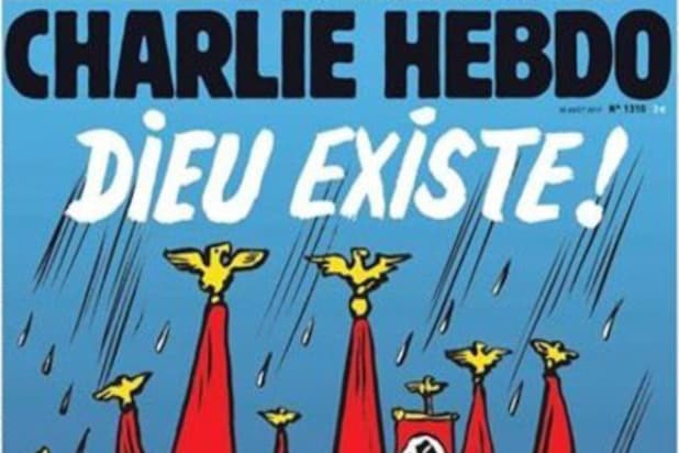 Hurricane Harvey victims are neo-Nazis, suggests Charlie Hebdo cover