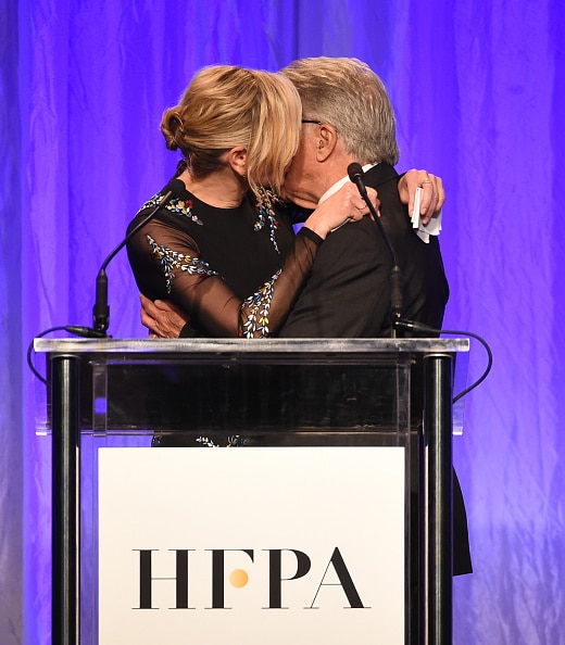 BEVERLY HILLS, CA - AUGUST 02: Host Chelsea Handler and Dustin Hoffman speak onstage at the Hollywood Foreign Press Association's Grants Banquet at the Beverly Wilshire Four Seasons Hotel on August 2, 2017 in Beverly Hills, California. (Photo by Kevin Winter/Getty Images)