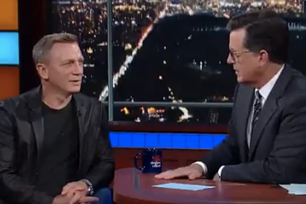 Daniel Craig on Colbert