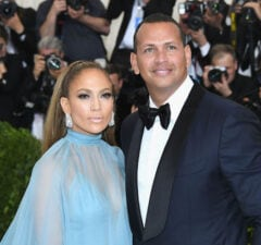 Alex Rodriguez with fiancee Jennifer Lopez
