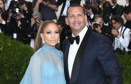 Alex Rodriguez with fiancee Jennifer Lopez