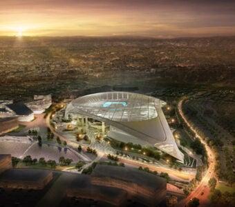 LA Stadium South Aerial Perspective