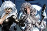 Silver and Black Black Cat Silver Sable Captain Marvel Tomb Raider