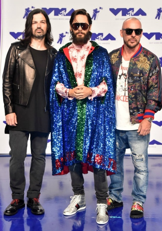 Tomo Milicevic, Jared Leto and Shannon Leto