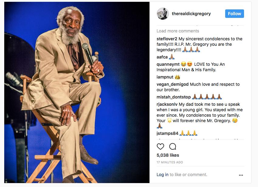 Dick Gregory Instagram