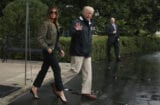 melania trump donald trump houston flood
