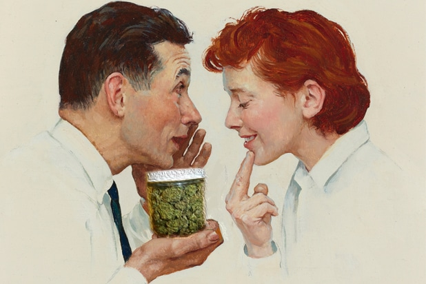 Norman Rockwell weed