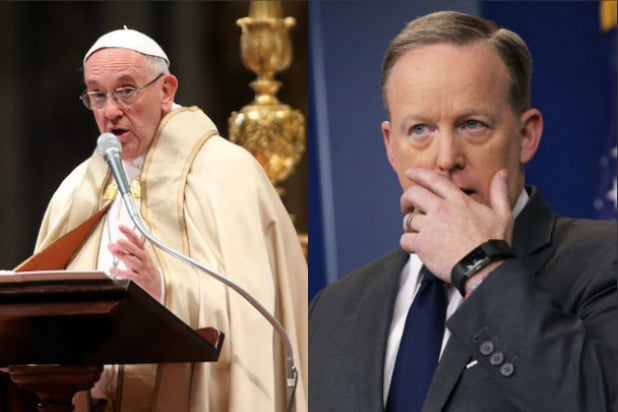 sean spicer pope francis