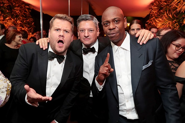 James Corden and Dave Chappelle / Netflix