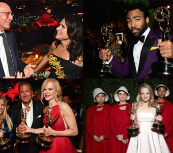 """Inside the sea of Emmy statues, champagne, and flashbulbs as the big winners from """"Big Little Lies,"""" """"Atlanta,"""" """"Veep,"""" and """"The Handmaid's Tale"""" soak in their victories."""