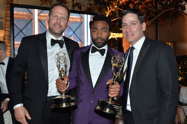 ick Grad, Donald Glover, and FX President of Original Programming Eric Schrier