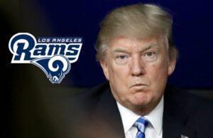 Donald Trump Los Angeles Rams