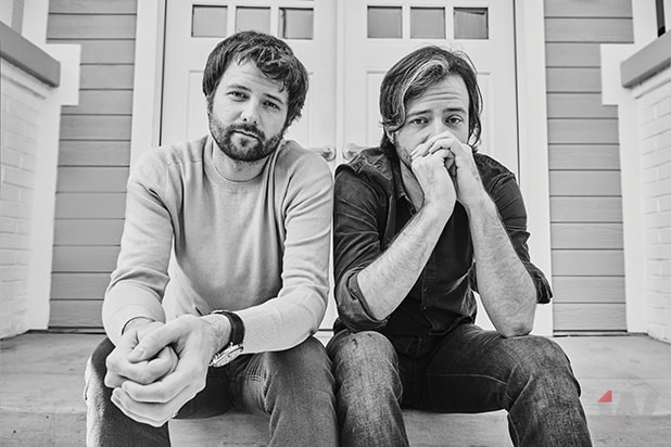 The Duffer Brothers photographed by Shayan Asgharnia for the cover of TheWrap
