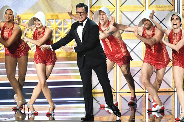 Emmys Stephen Colbert musical number
