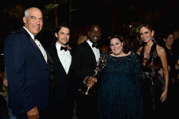 Gary Newman, Milo Ventimiglia, Sterling K. Brown, Chrissy Metz and Dana Walden