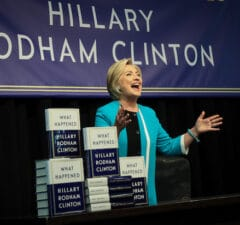 """Hillary Clinton Signs Copies Of Her New Book """"What Happened"""" In NYC"""
