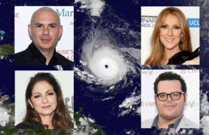 Hurricane Irma Florida Pitbull Celine Dion Gloria Estefan Josh Gad