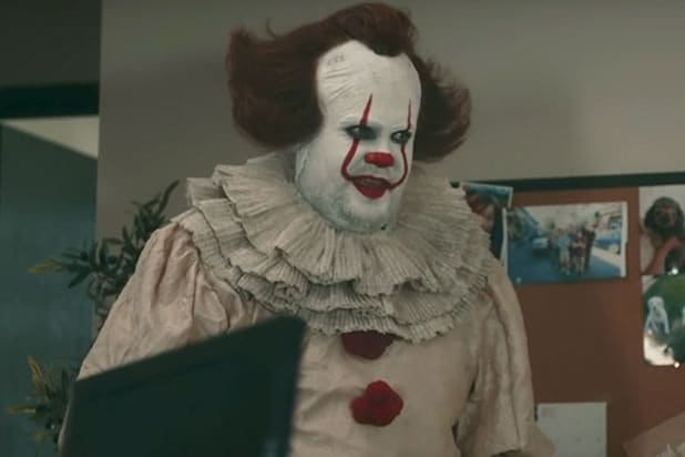 james corden clowns around as pennywise in  u0026 39 it u0026 39  spoof  video