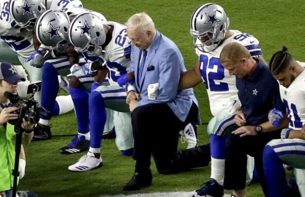 Jerry Jones Dallas Cowboys Take A Knee