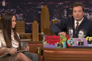 Jimmy Fallon and Demi Lovato on 'The Tonight Show'
