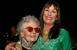 Lillian Ross and Angelica Huston