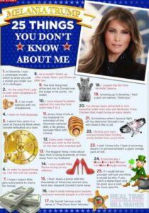 Melania Trump Nill Maher 25 things