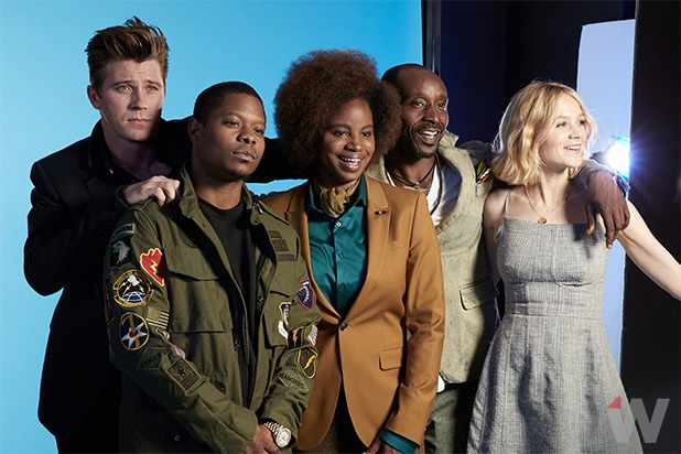 Mudbound Garrett Hedlund, Jason Mitchell, Dee Rees, Rob Morgan and Carey Mulligan