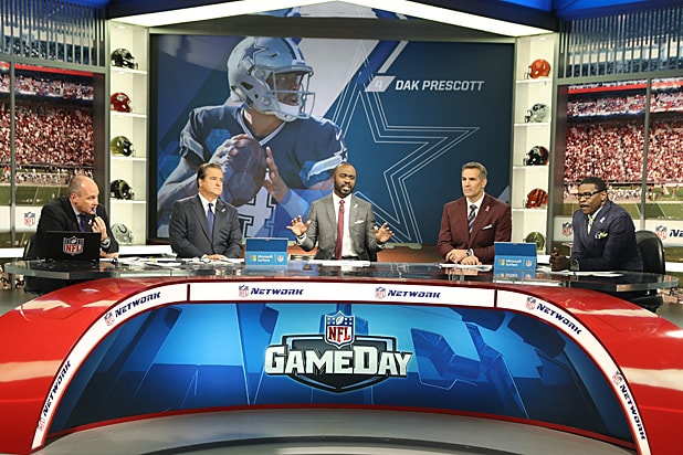 NFL GameDay Rich Eisen, Steve Mariucci, Marshall Faulk, Kurt Warner, Michael Irvin