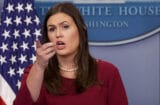 Sarah Sanders Holds Daily Press Briefing At The White House
